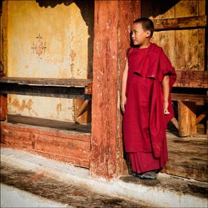 Bhutan Young Monk
