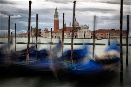 Venice  church & gondolas