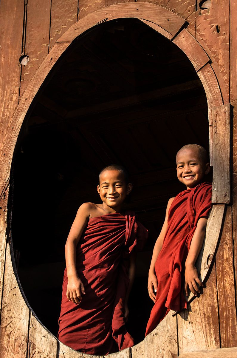 Young Novice Monks, Shwe Yaunghwe Kyaung Monastery, Myanmar