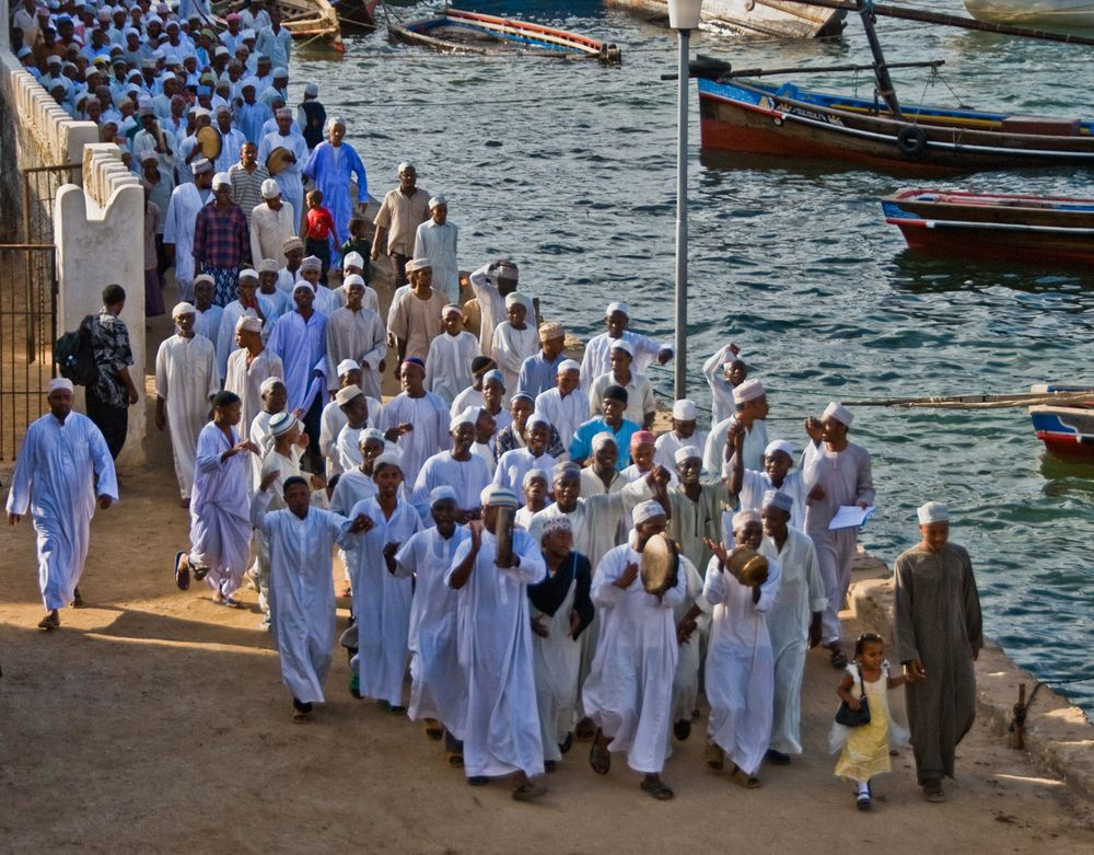 Muslims Celebrating Mohammad's Birthday, Lamu Island, Indian Ocean