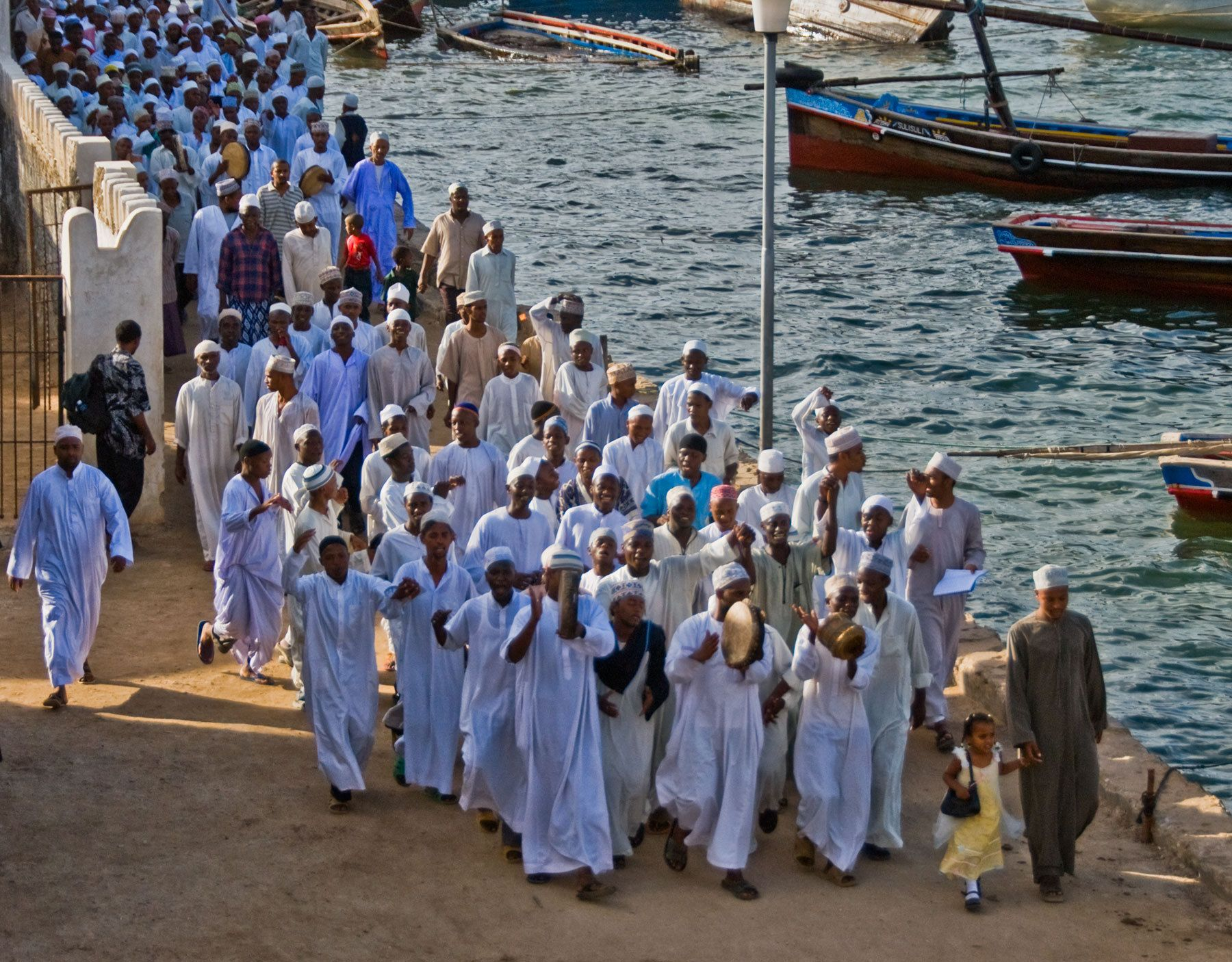Muslims Celebrating Mohammad's Birthday, Lamu Island, Indian Ocean