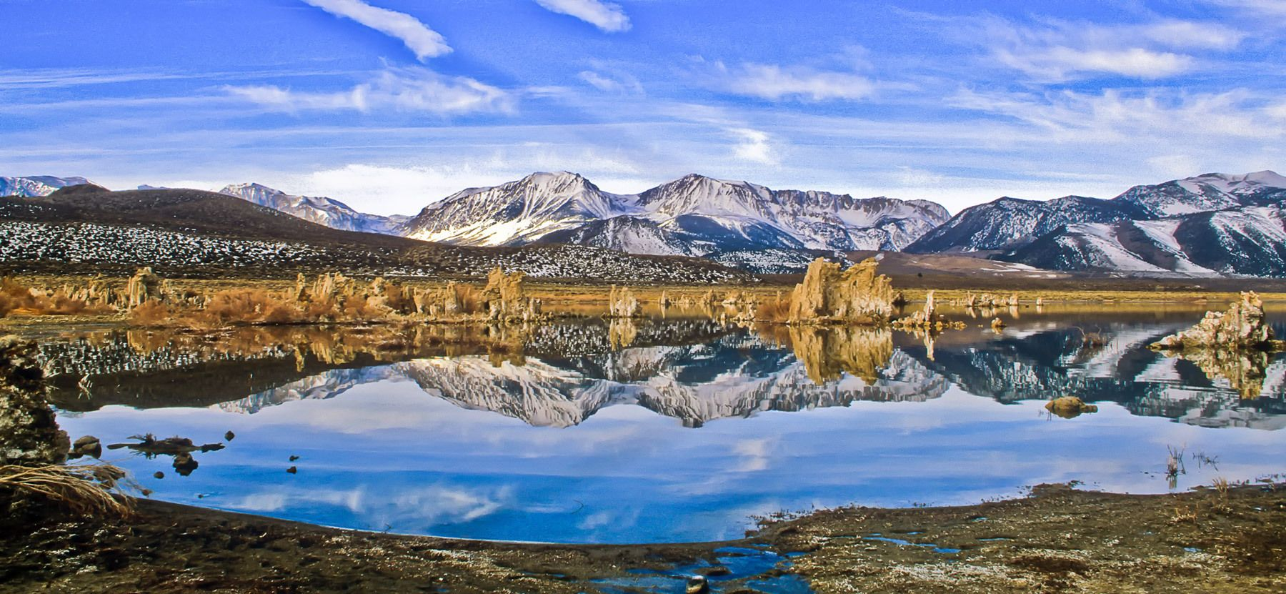 Mono Lake Reflection, Lee Vining, California