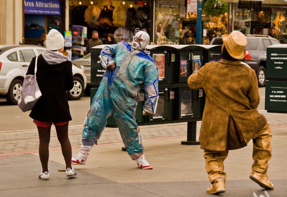 Street Mimes, San Francisco, California