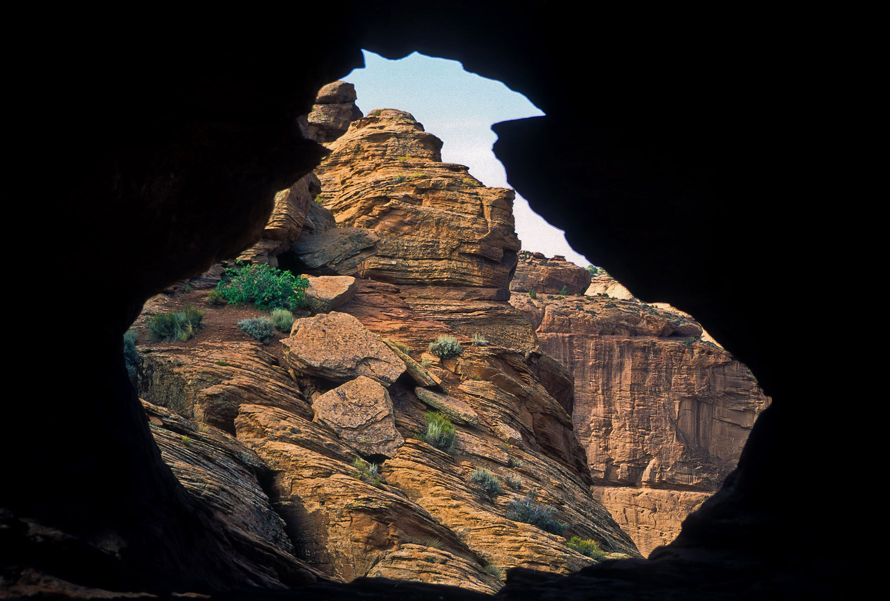 Cave View of Canyon de Chelly, Arizona