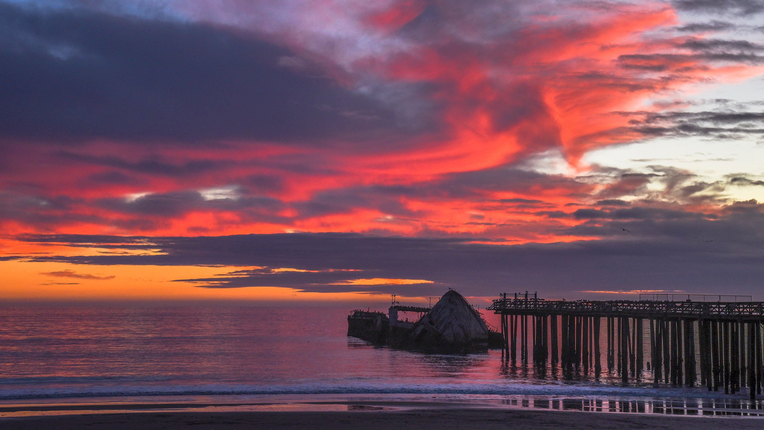 Cement Boat at Sunset, Aptos, California