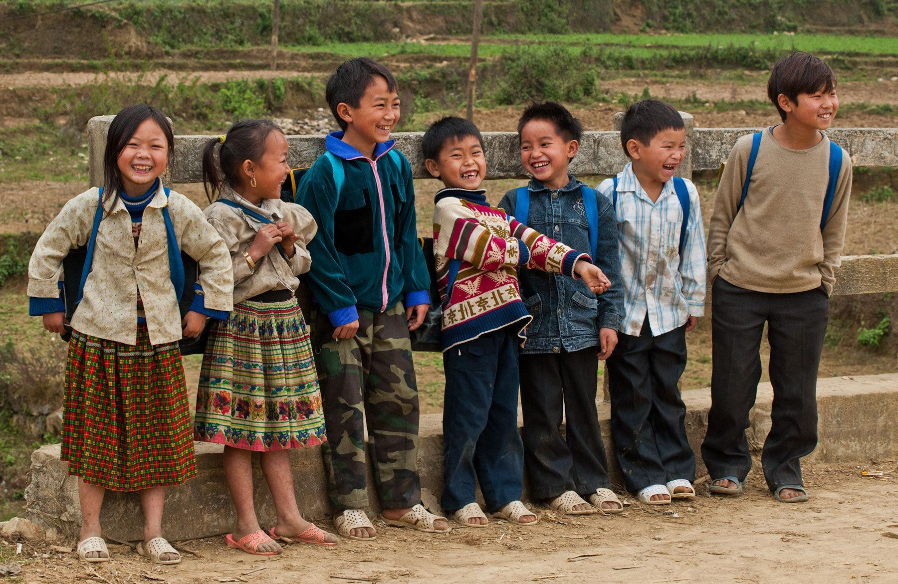 Laughing Children, Bac Ha, Northwestern Vietnam