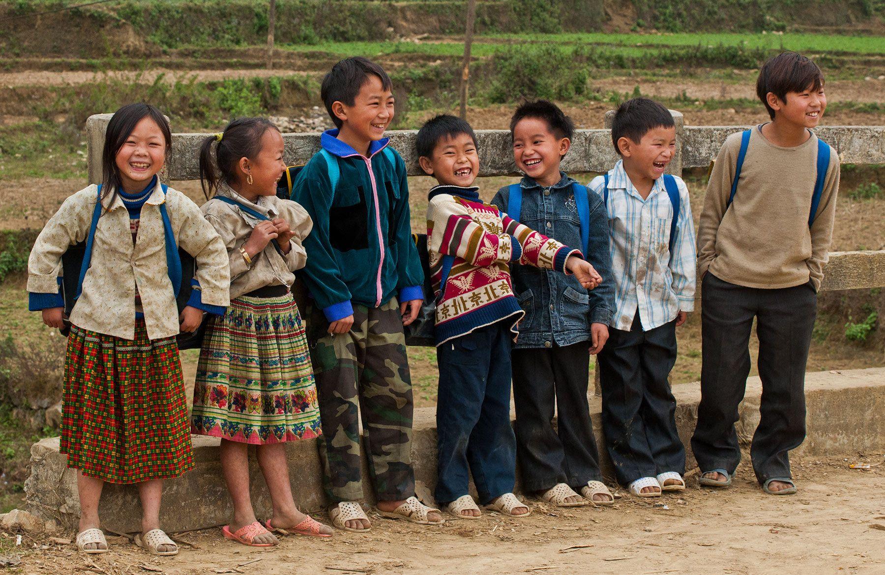Laughing Children, Bac Ha, Northwestern Vietnam