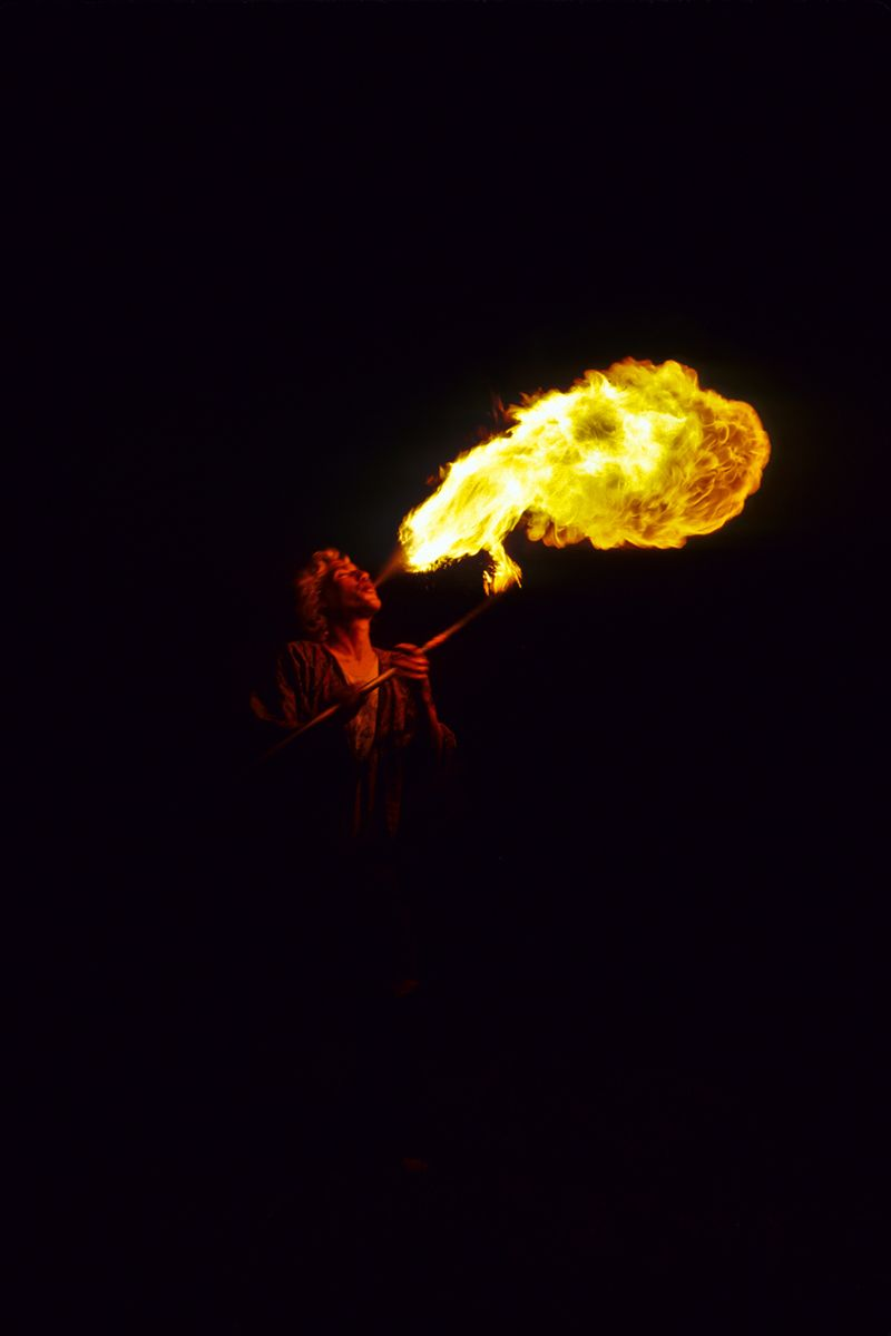 Fire Eater, Oregon Country Fair, Eugene, Oregon