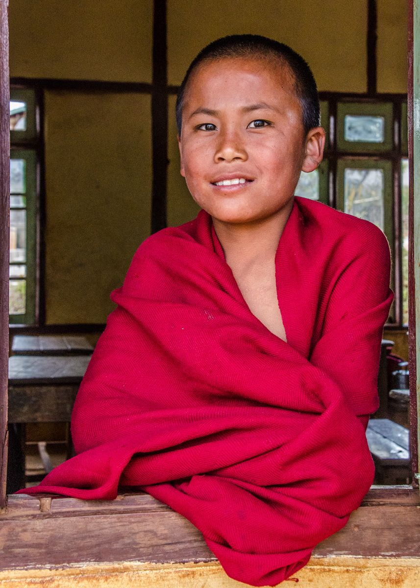 Young Buddhist Monk, Myanmar