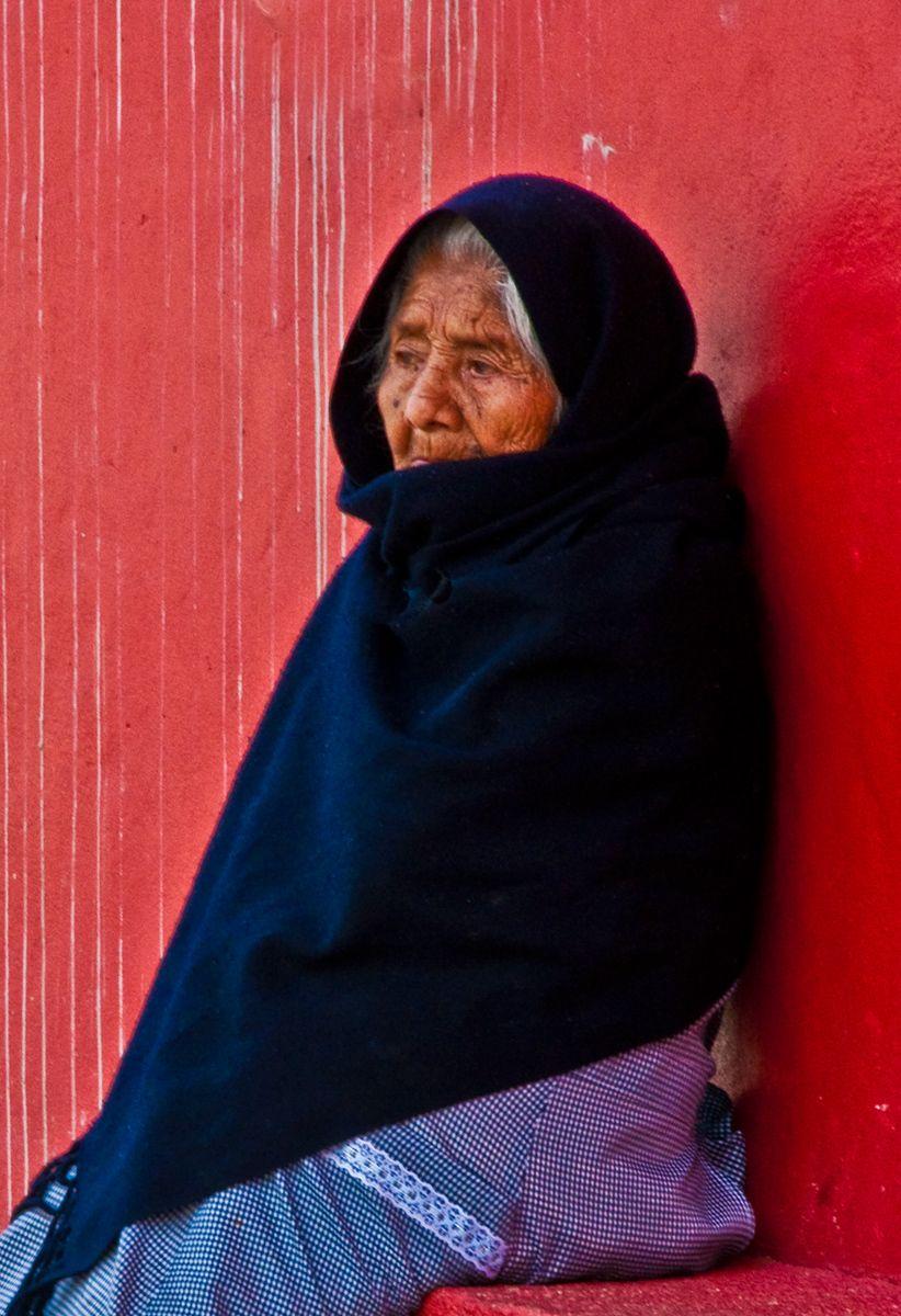 Old Lady Sitting, Oaxaca, Mexico