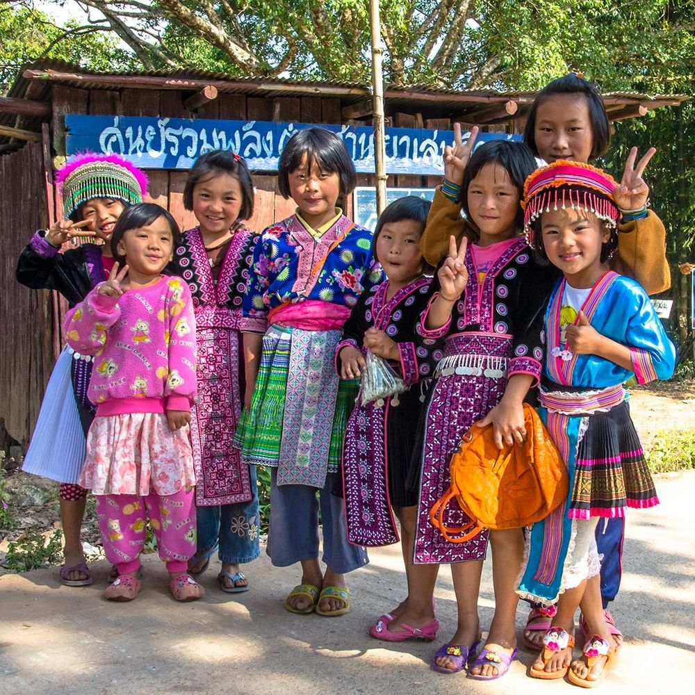 Girls from Hill Tribes of Northern Thailand