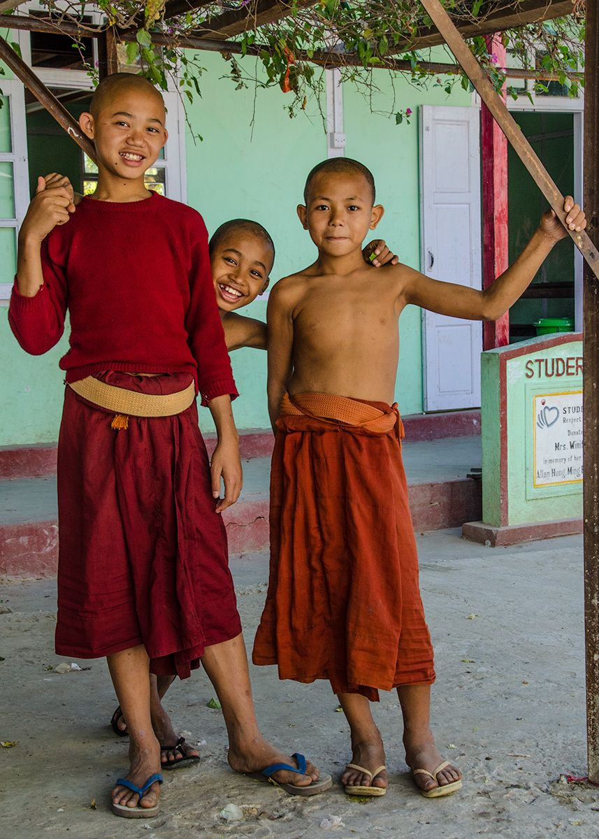 Young Novice Monks, Aung Myay Oo Monastic School, Myanmar