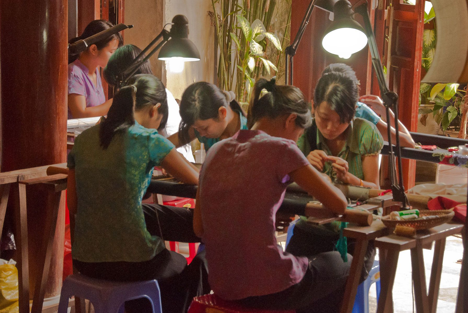 Young Seamstresses, Hoi An, Central Vietnam