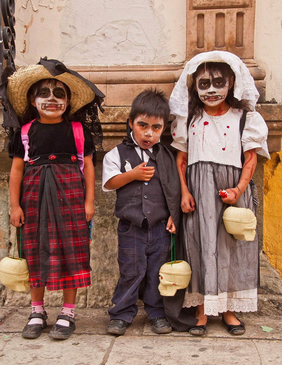 Children dressed for Day of the Dead, Oaxaca, Mexico