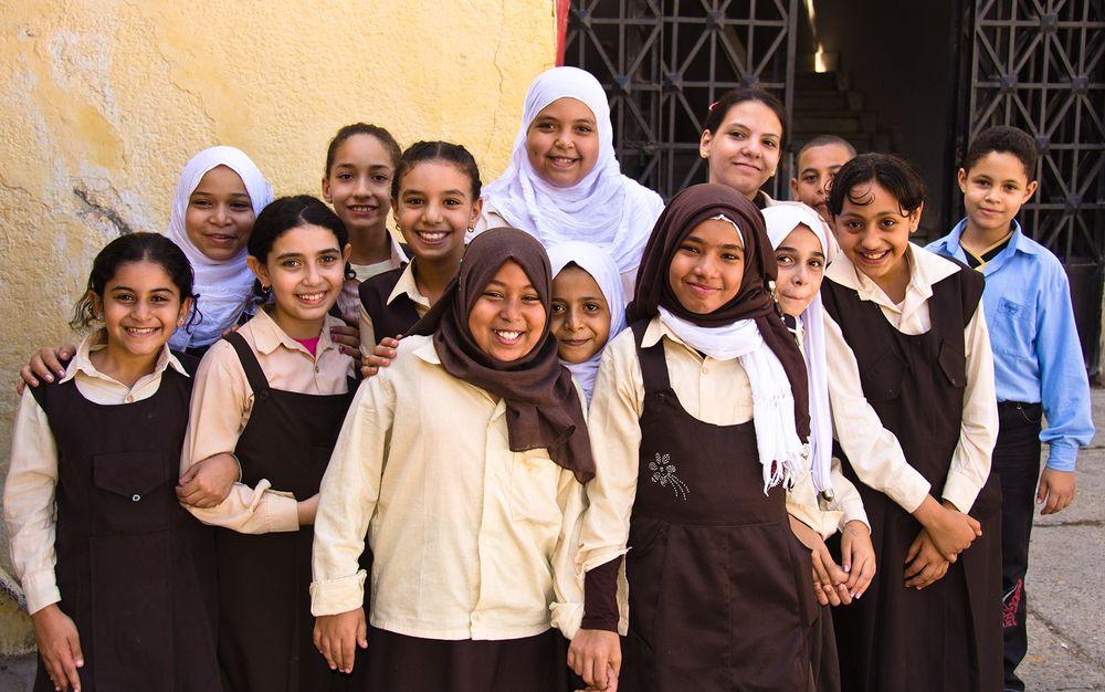 School chidren, Alexandria, Egypt