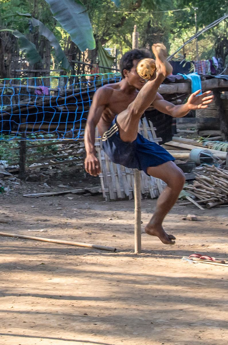 The sport of Chinlone, Myanmar
