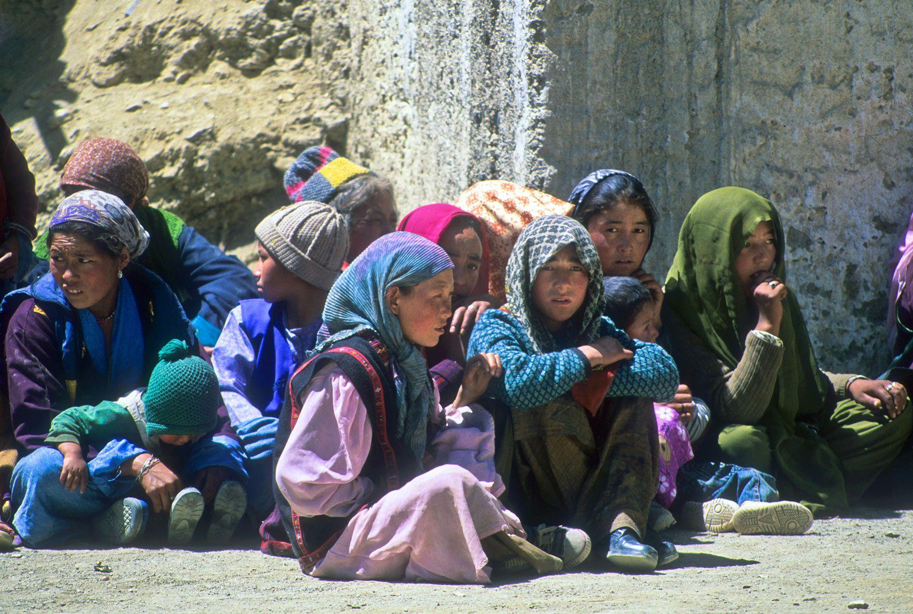 Villagers at Buddhist festival, Ladakh Region, India