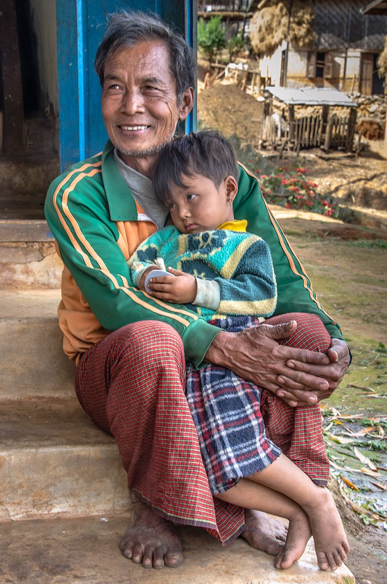 Father and Son, Kalaw Village, Myanmar