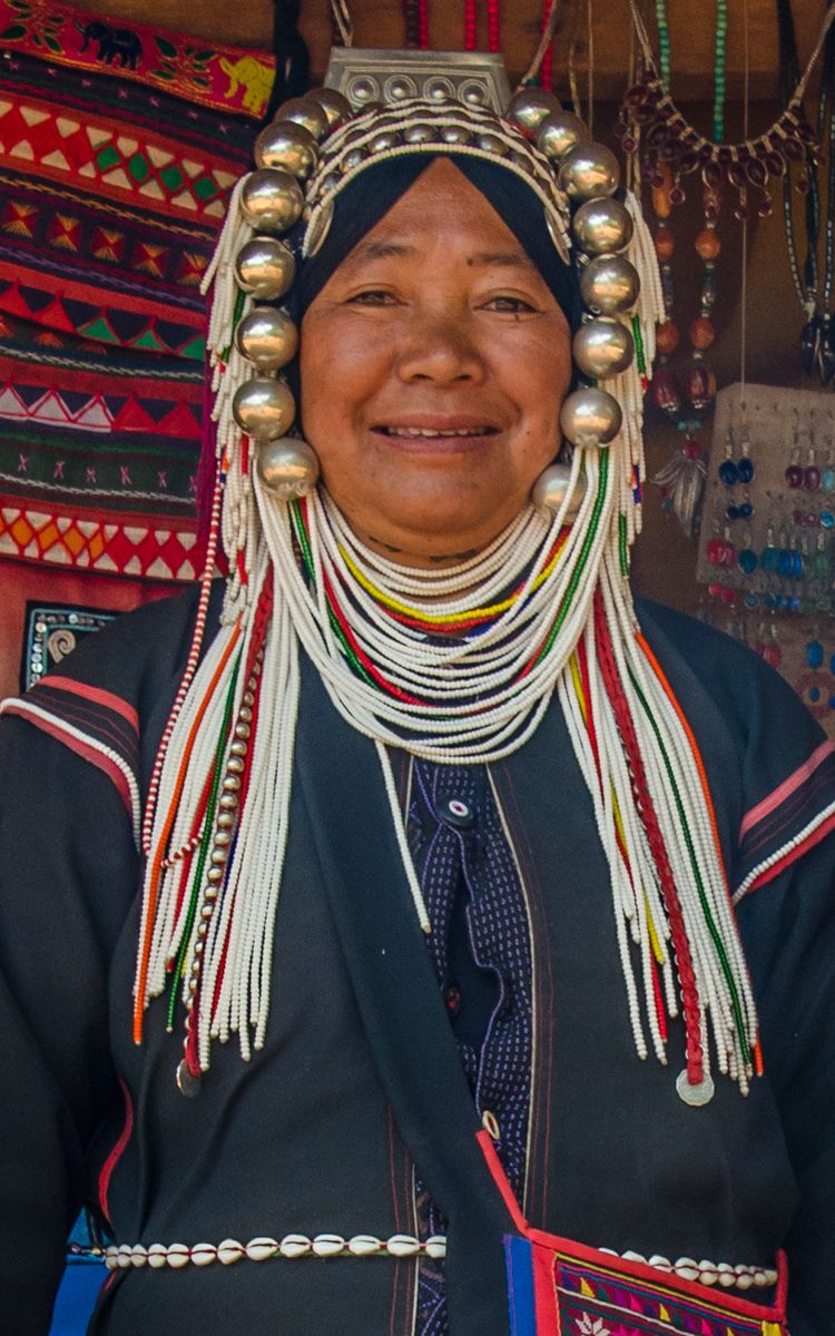 Akha Woman, Hill Tribe of Northern Thailand