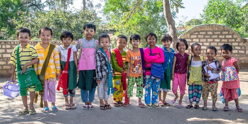 School Children, Taung Ywa Village, Myanmar