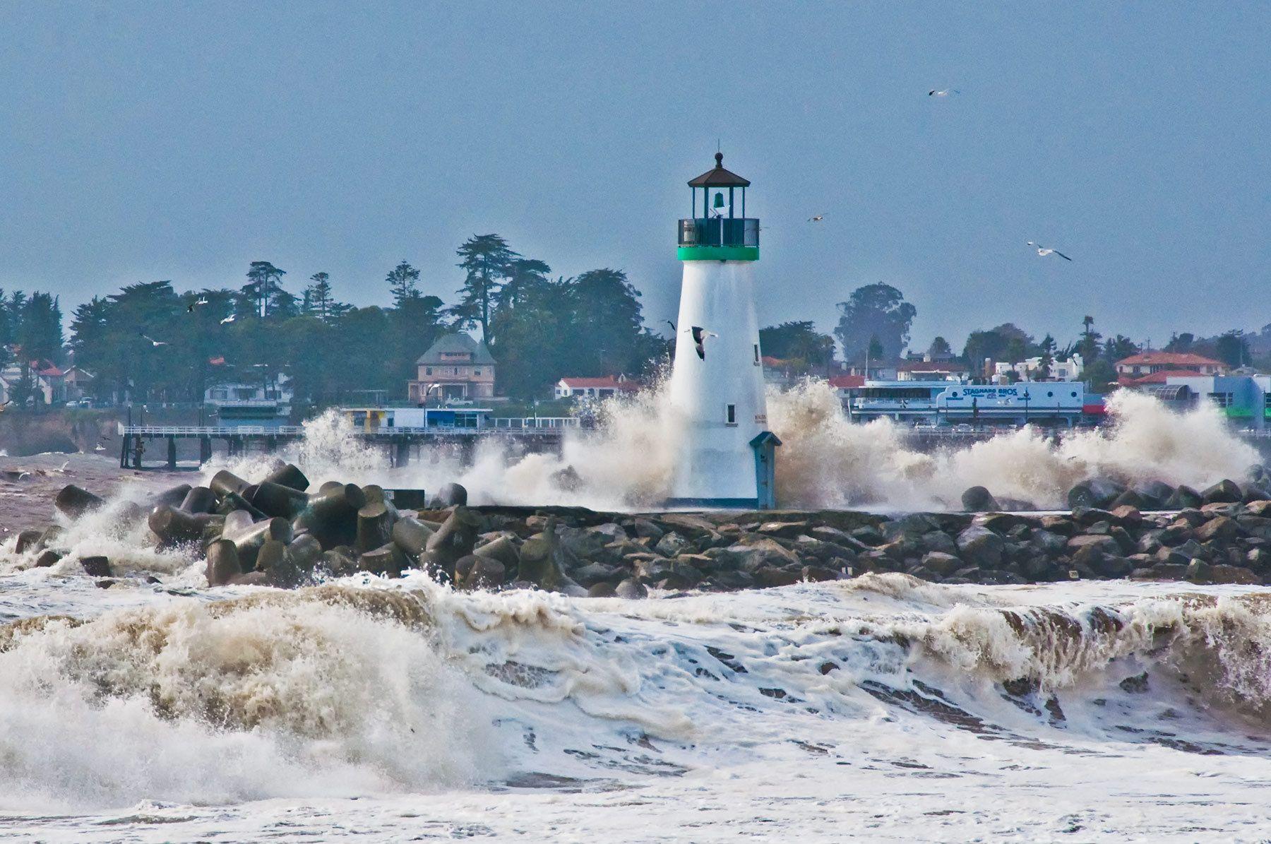 Stormy Day, Walton Lighthouse, Santa Cruz, California