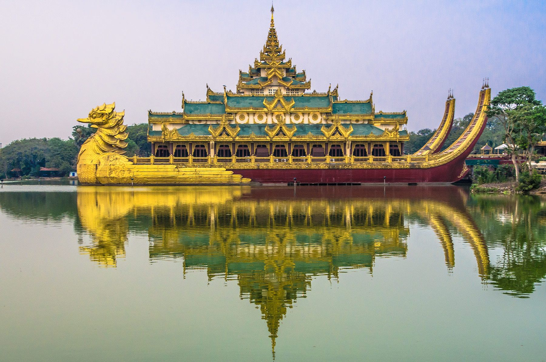 Karaweik Palace, Kandawgyi Lake, Yangon, Myanmar