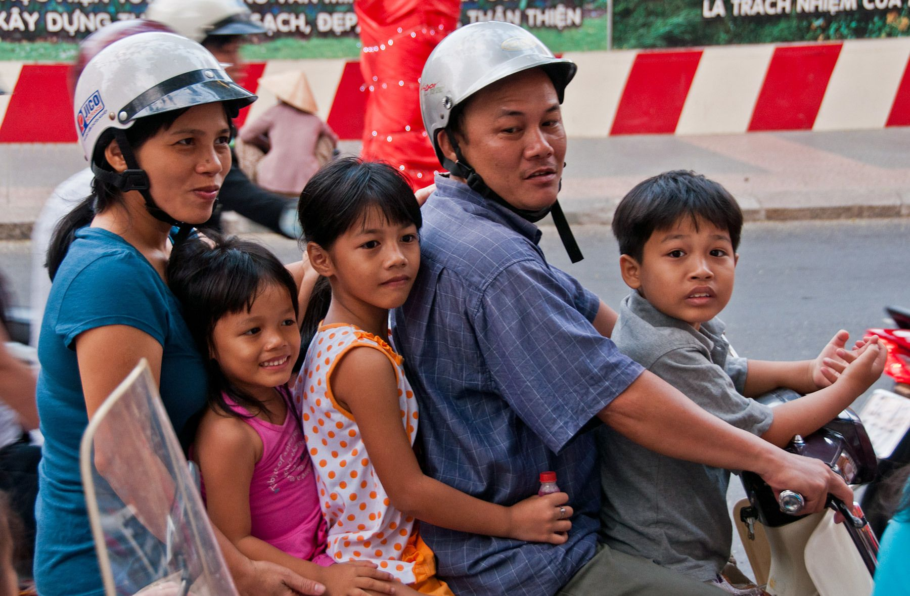Family on Motorbike, Hanoi, North Vietnam