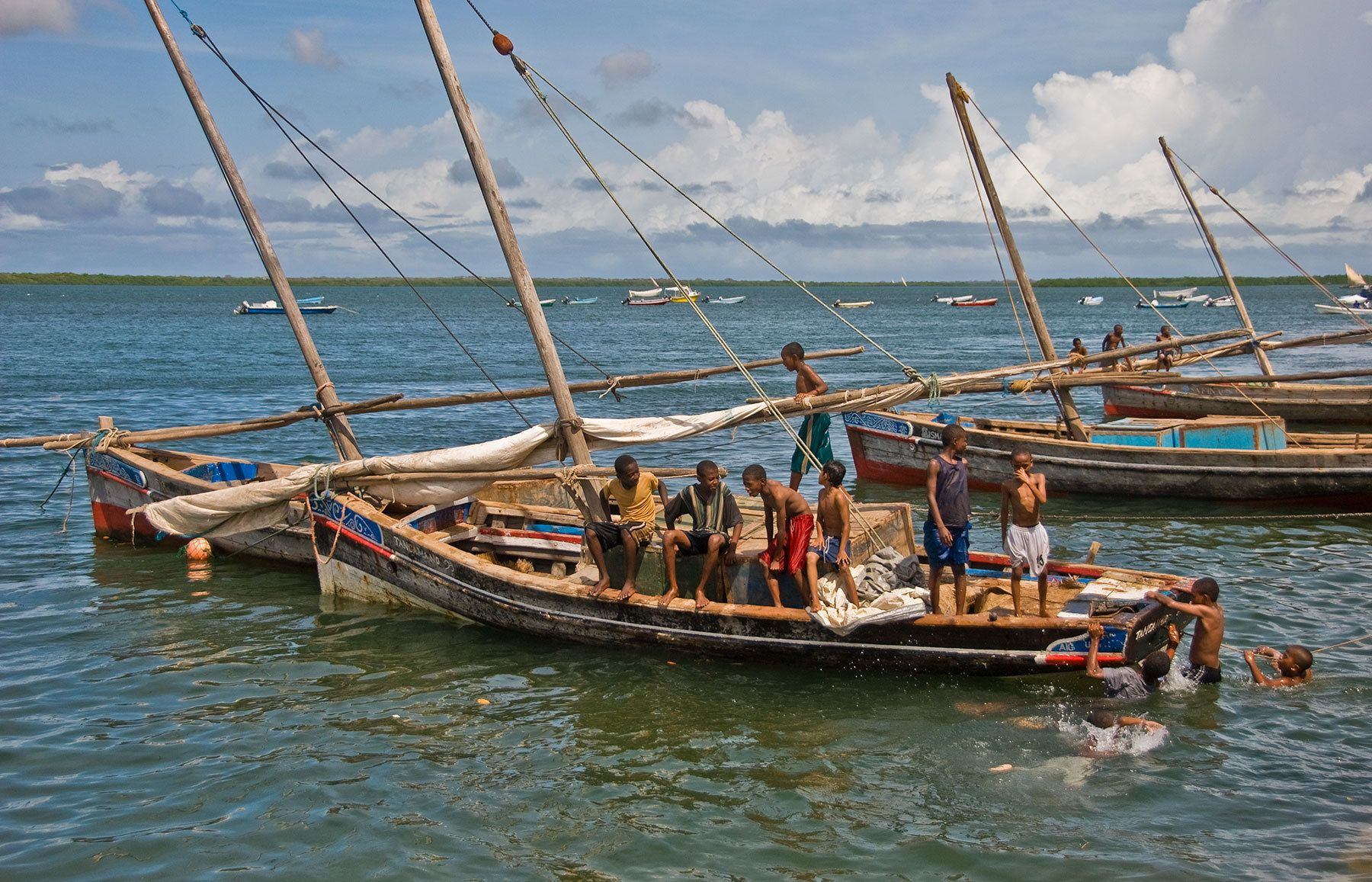 Boys playing, Lamu Island, Indian Ocean