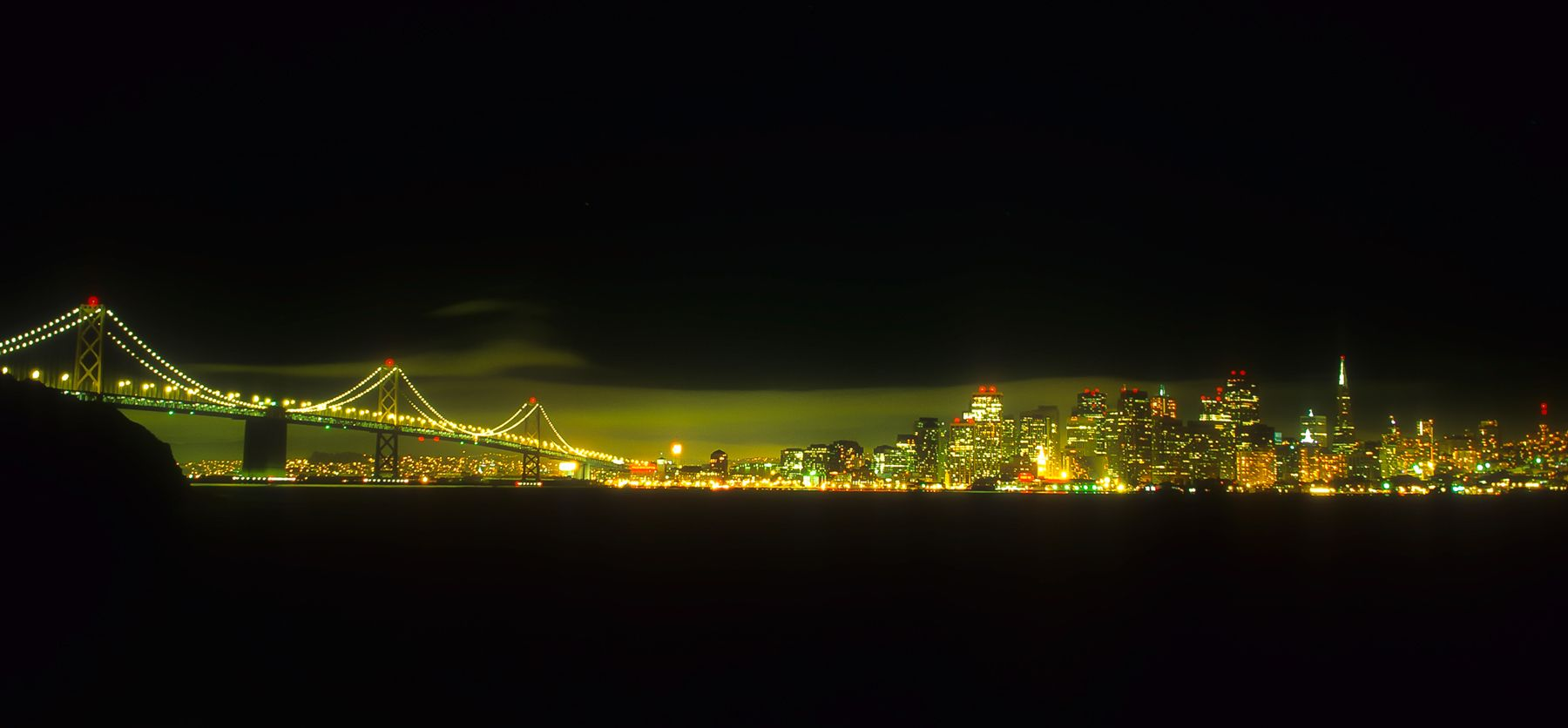 San Francisco-Bay Bridge Nightscape