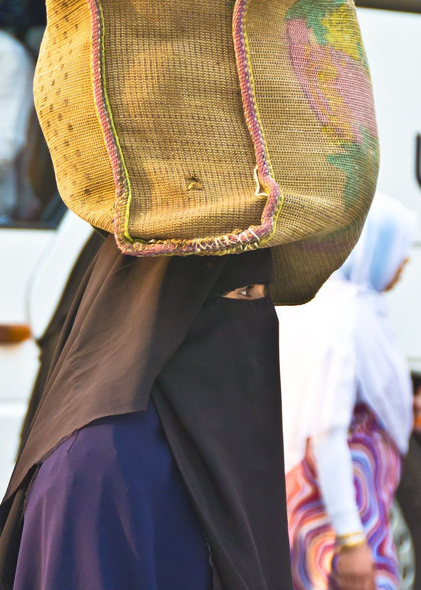 Veiled Woman, Cairo marketplace, Egypt