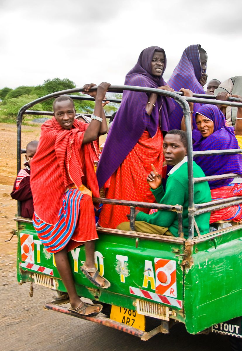 Transporting Villagers, Tanzania, Africa