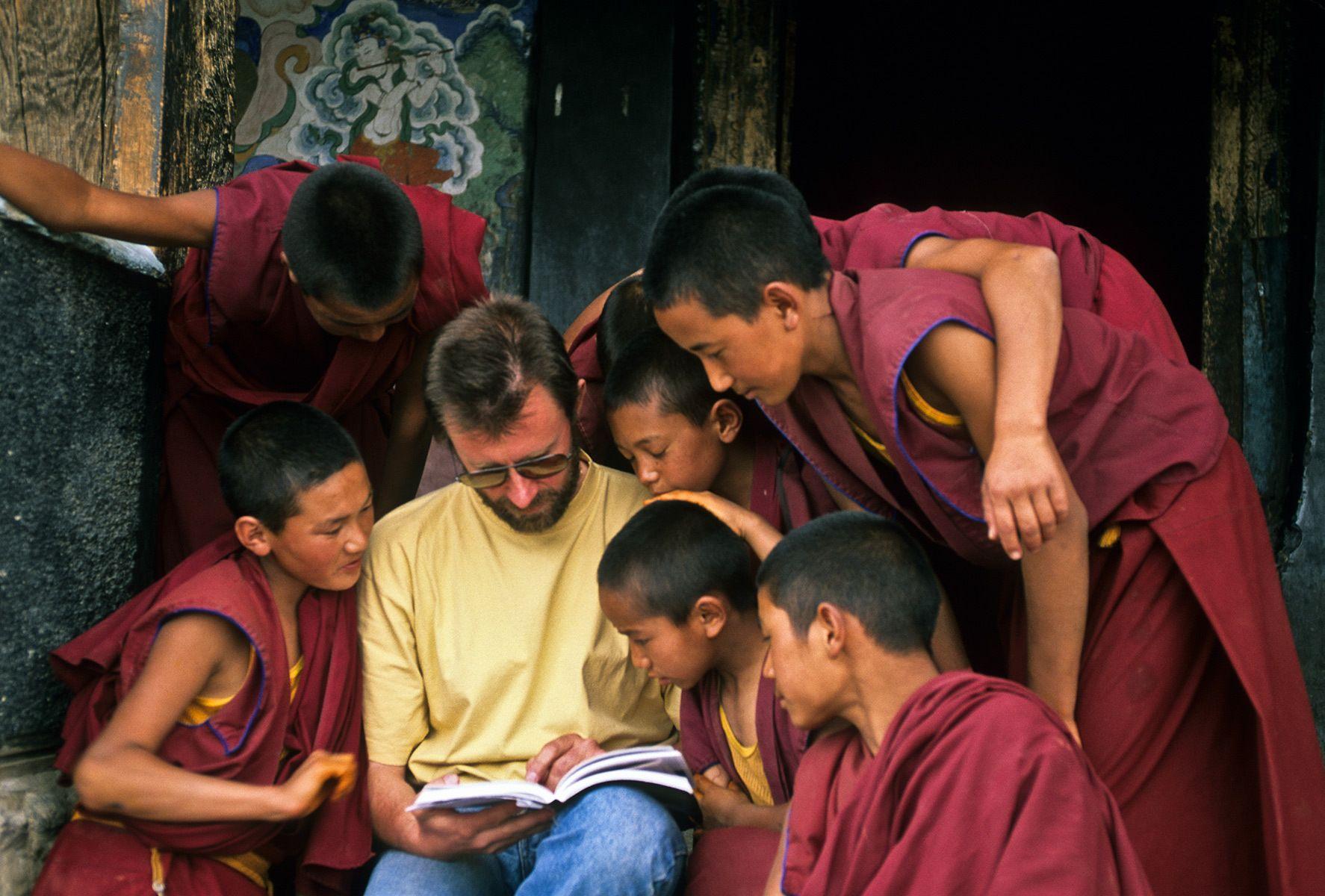 Buddhist Children, Ladakh monastery, Northern India
