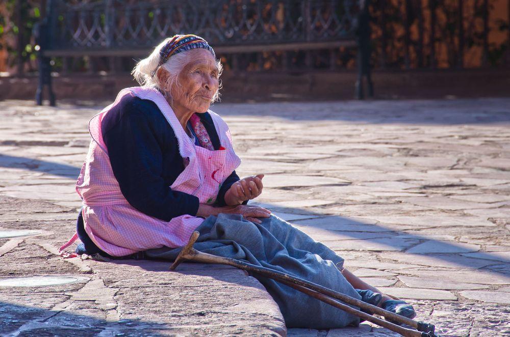 Old Woman begging, St. Miguel de Allende, Mexico