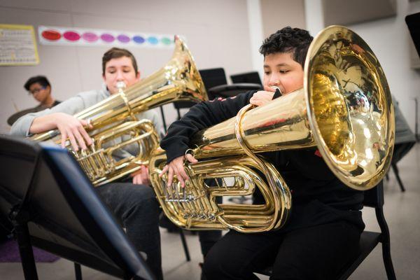Tuba and  the Boys