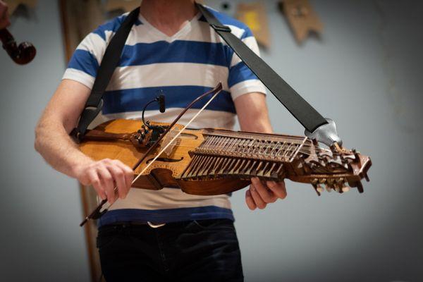 Nyckelharpa  (keyed fiddle)