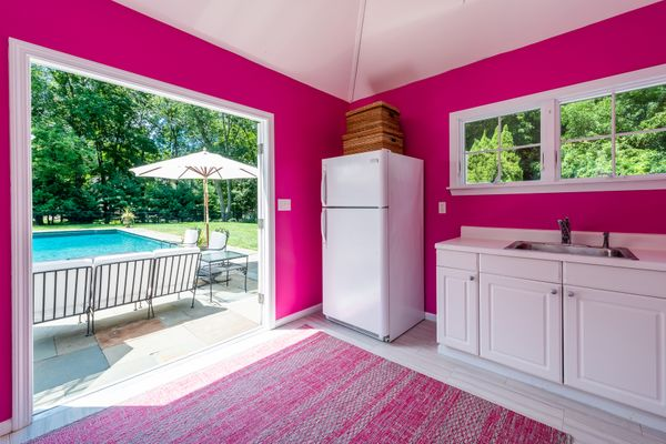 Pink Pool House Old Lyme CT
