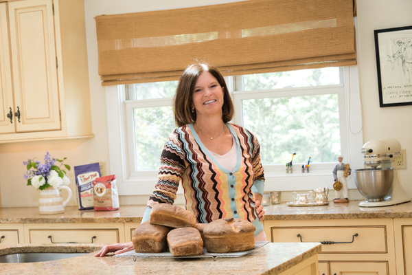 She Bakes Bread in her Kitchen
