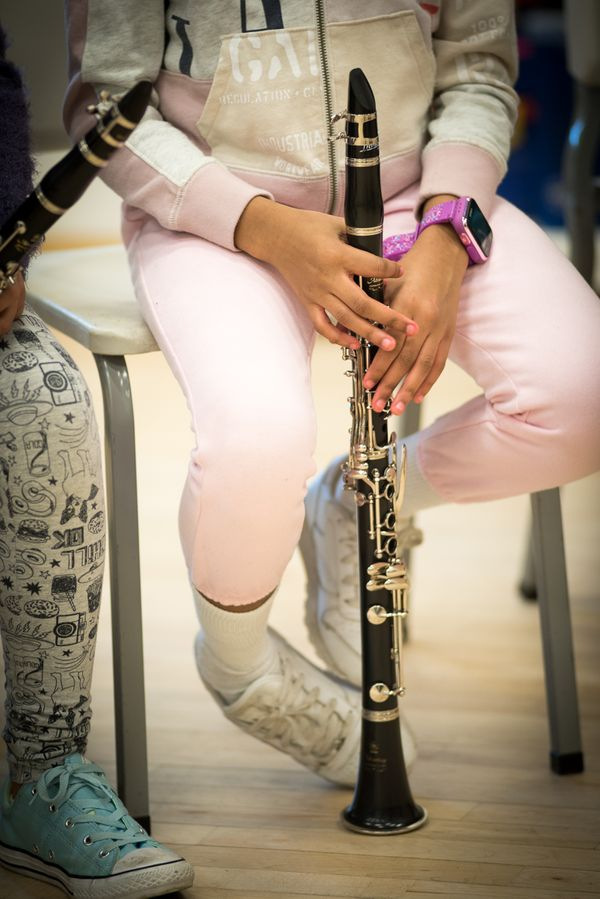 Pink and Purple Clarinetist