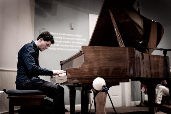 Sam Reider at the Piano