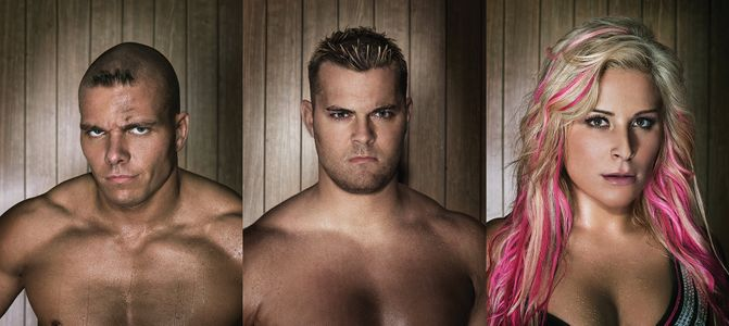 The Hart DynastyTyson Kidd, Natalia, and David Hart Smith