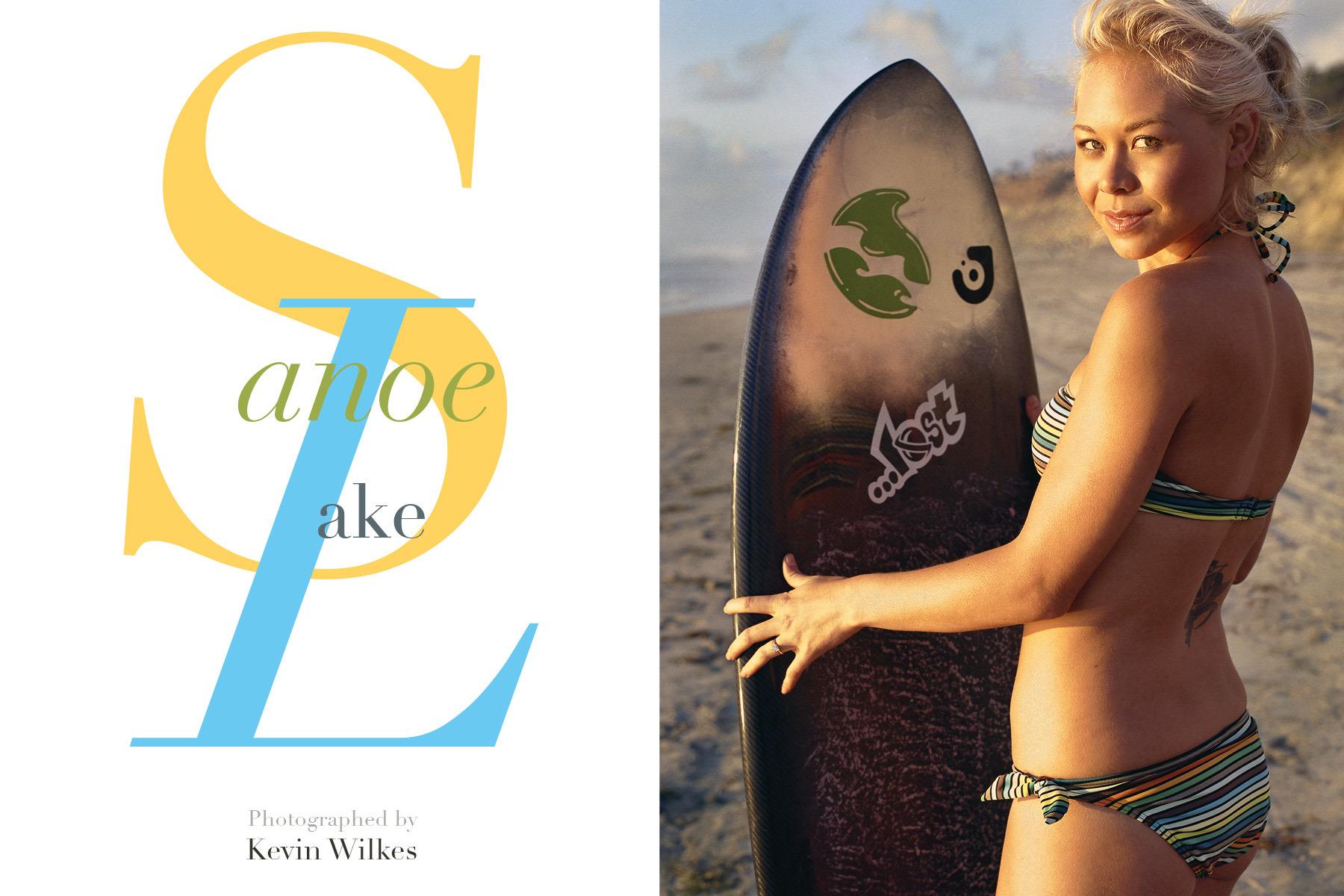 Sanoe Lake. Actor. Bikini by Billabong.