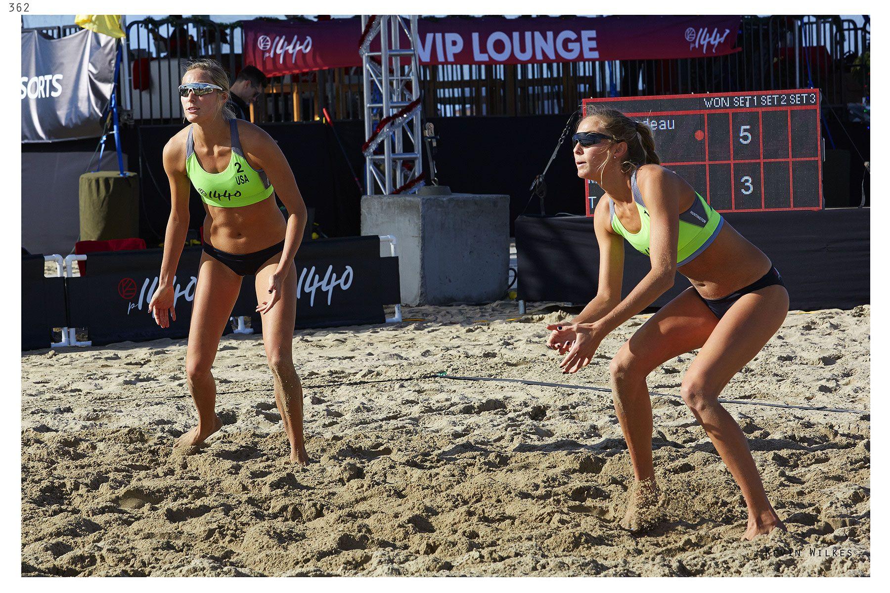 Madison and McKenna at Huntington Beach p1440 tournament.