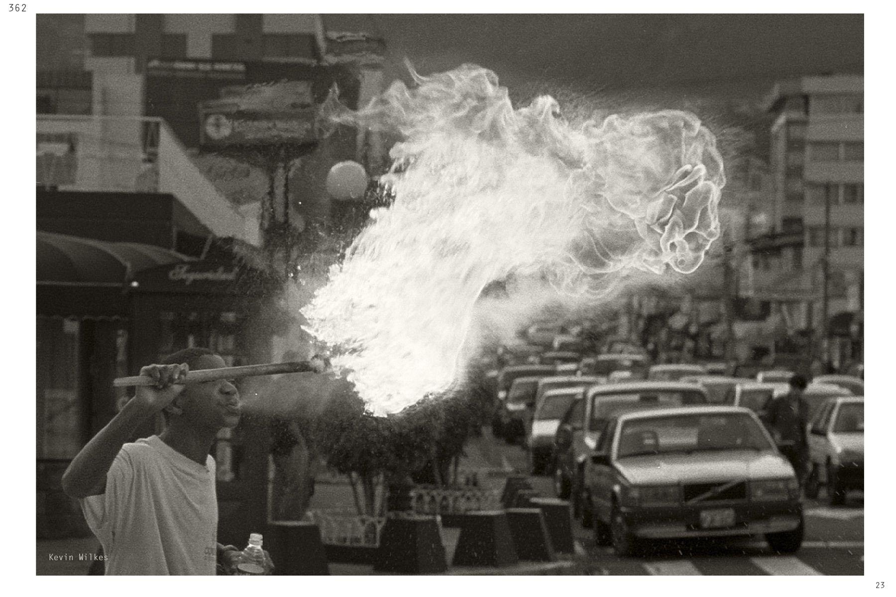 Fire spiter. Quito, Ecuador.