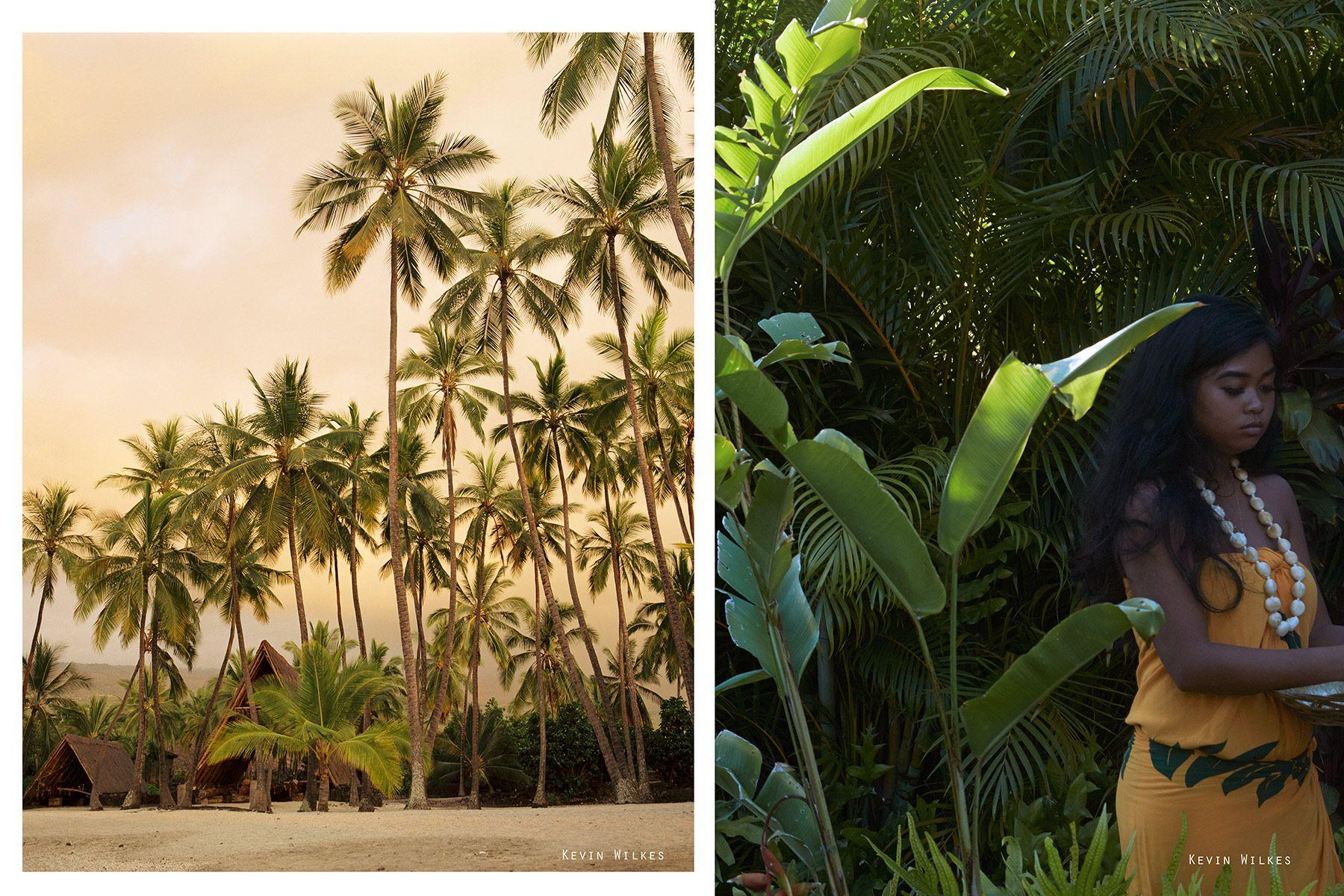 Pu'uhonua O Honaunau. Hawaii. (Left). Maui.