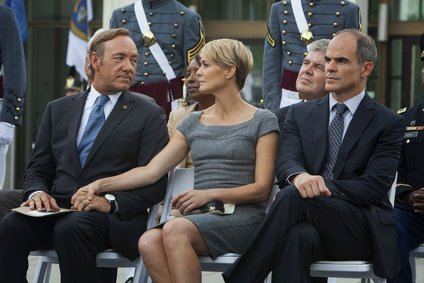 Kevin Spacey as Francis UnderwoodRobin Wright as Claire UnderwoodMichael Kelly as Doug Stamper