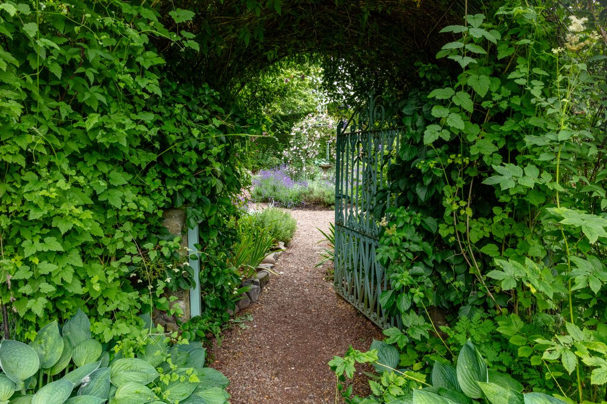"""Gate to the """"Dolly Garden"""""""
