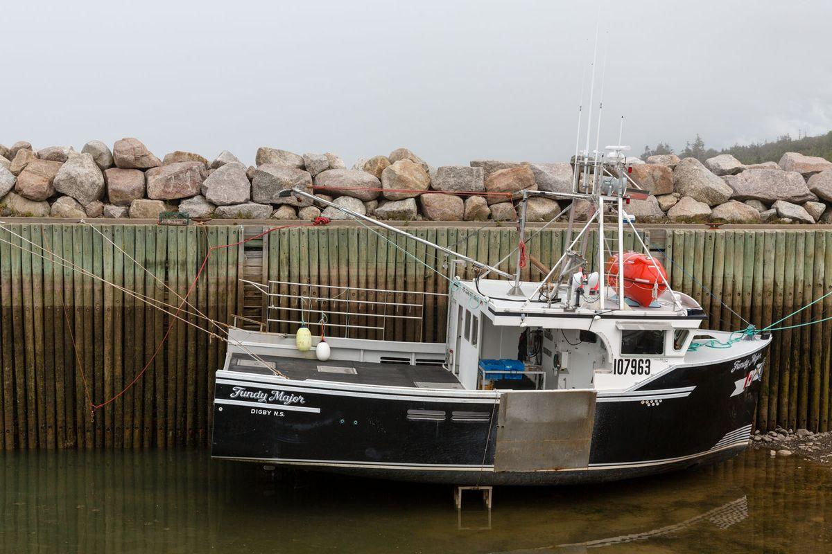 Aground, Parker's Cove, Nova Scotia
