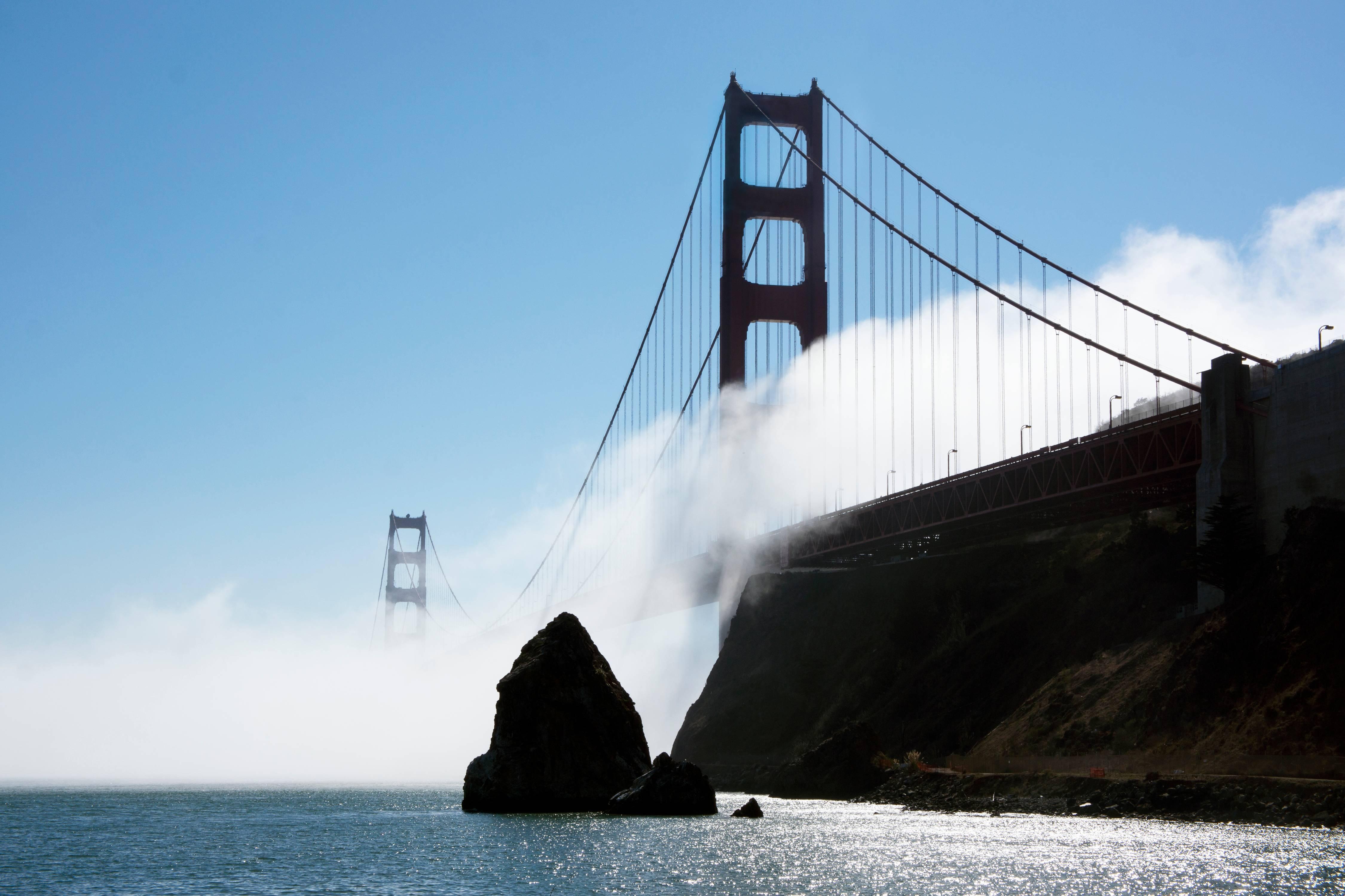 Golden Gate Bridge In October Fog and Light.