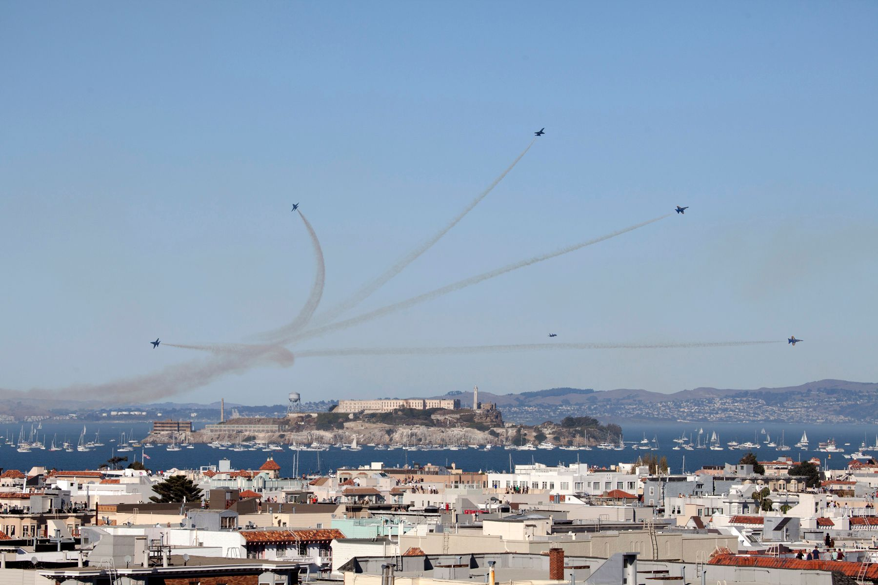 Blue Angels Over Alcatraz and the City