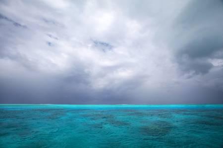 Reef Meets Squall, Bora Bora, French Polynesia